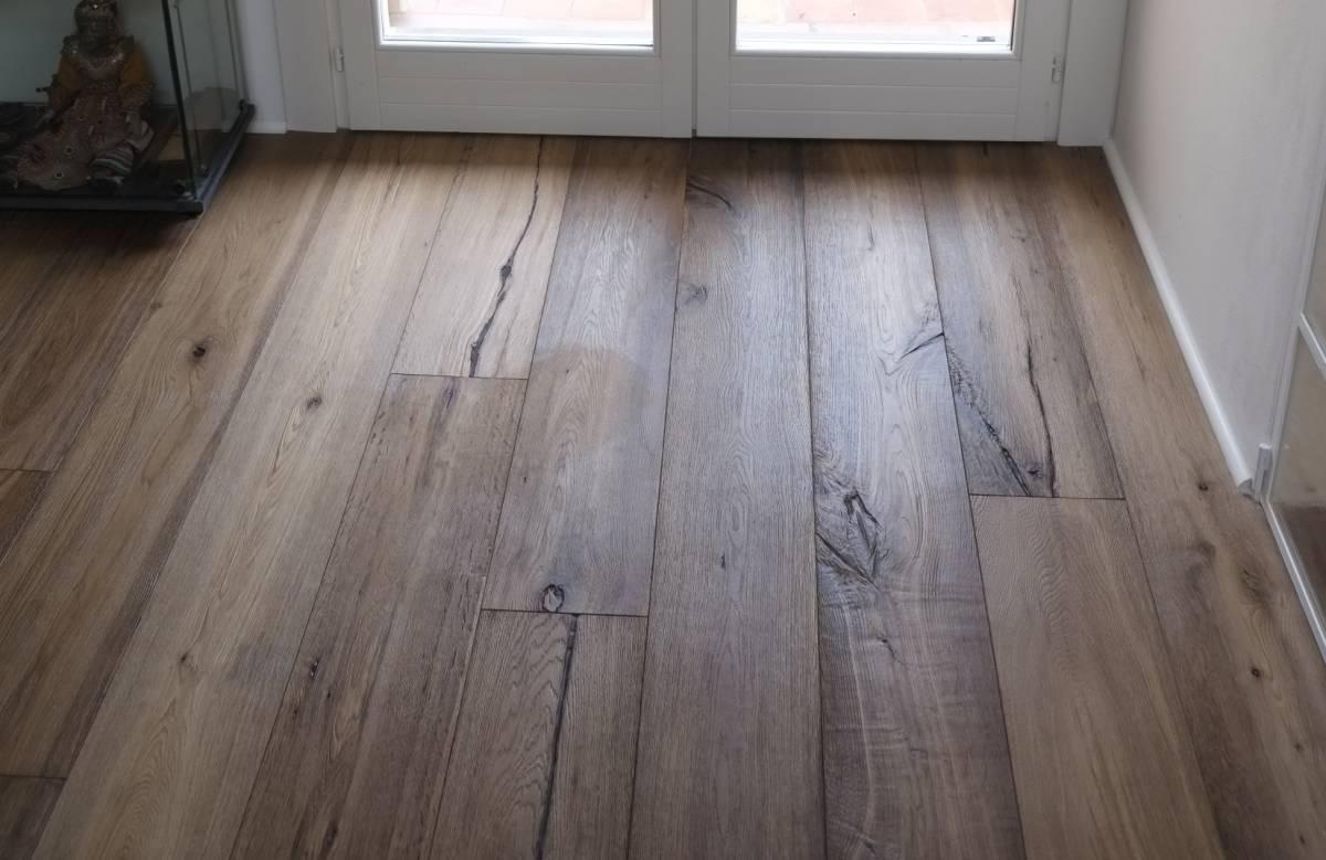 Parquet Spazzolato O Liscio pavimenti in legno in rovere con spazzolatura rustica per
